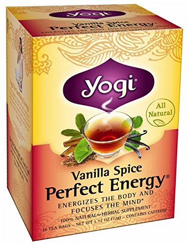 Yogi Tea Co Vanilla Spice Perfect Energy Herbal Tea - 16 bags per pack - 6 packs per case.