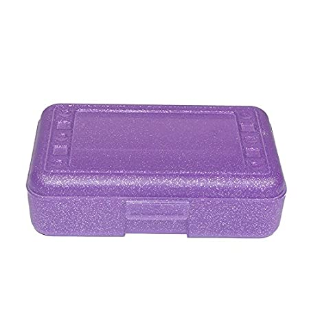 Romanoff Products ROM60250 Pencil Box Purple Sparkle