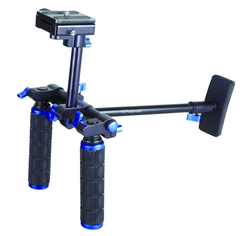 Polaroid Dual Grip Video Chest Stabilizer Support SystemFor The Canon Vixia HF R300, R30, R32, R200, R20, R21, R400, R42, R40, FS40, FS400, XF300, XF305, XH-G1S, XH-A1S, GL1, GL2 Camcorder by Polaroid