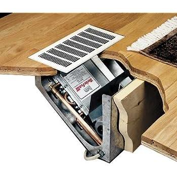 Hydronic Heater In Floor Cabinet Recess Kickspace