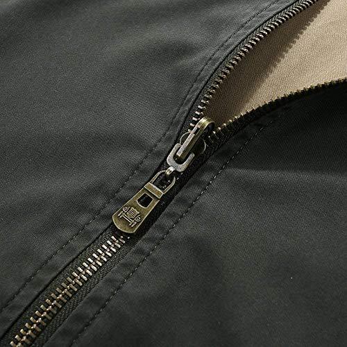 Sportiva Maniche Tuta Laterali Kaki Giù Del Hx Dimensioni A Moda Abbigliamento Tasche Outdoor Cerniera Rivestimento 4 Uomo Comode Giacche Lunghe x6zng