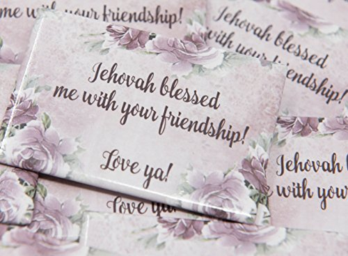 Witness Pins (1 Lapel Pin - Jehovah Blessed Me With our Friendship, Love Ya! - Buttons - Best Friend Gifts, True Friends Gifts,)