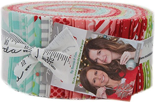(Bonnie & Camille Vintage Holiday Jelly Roll 40 2.5-inch Strips Moda Fabrics 55160JR)