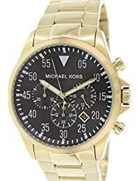 4a2863e3d63c Gage Chronograph Black Dial Gold-tone Mens Watch MK8361 · Michael Kors