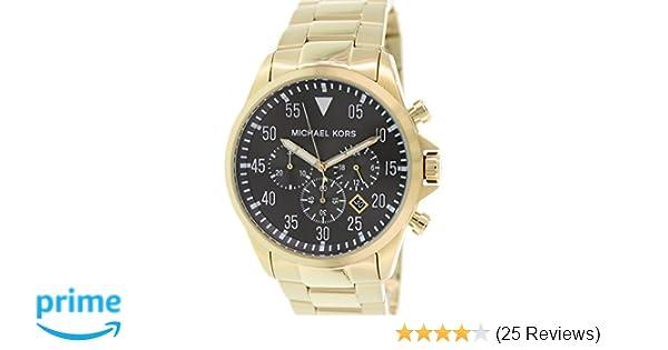 48ad8e1b43ff Amazon.com  Michael Kors Gage Chronograph Black Dial Gold-tone Mens Watch  MK8361  Michael Kors  Watches