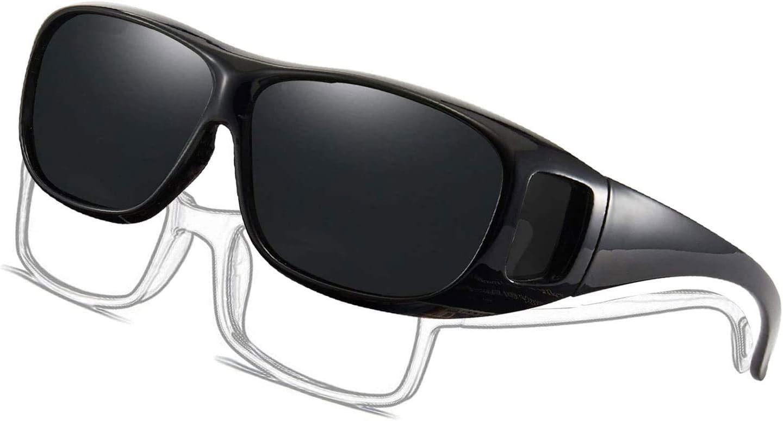 Inhzoy Lunettes de soleil de sport UV 400 avec cadre l/éger pour homme et femme