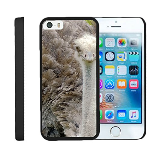 - TurtleArmor | Compatible for Apple iPhone SE Case | iPhone 5/5s Case [Slim Duo] Slim Compact Hard Clip On Case Grip Matte Cover on Black Animal Design - Ostrich