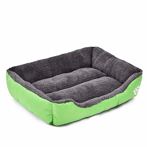 Pet Dog Bed Warming Dog House Soft Material Pet Nest Candy Colored Dog Fall and Winter Warm Nest Kennel For Cat Puppy (Size L)