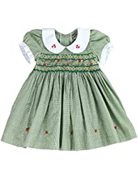 6cd98fceacc4f Infant and Toddlers (12M-4T) Soft Cotton Plaid Hand Smocked Dress