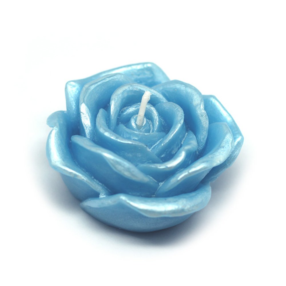 Zest Candle CFZ-075_12 144-Piece Rose Floating Candle, 3'', Blue