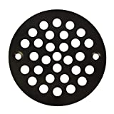 Oil Rubbed Bronze Round Stamped Shower Grate Drain 4 1/4'' Replacement Cover Tile Stalls
