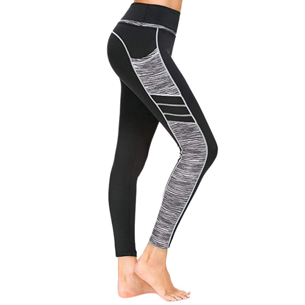 Womens High Waist Yoga Pants Tummy Control Slimming Booty Leggings Lift Tights
