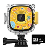 Rosefray Kids Camera,1080P HD Kids Action Camera, Sports Kids Digital Cameras for Boys and Girls, 16GB SD Card, Yellow