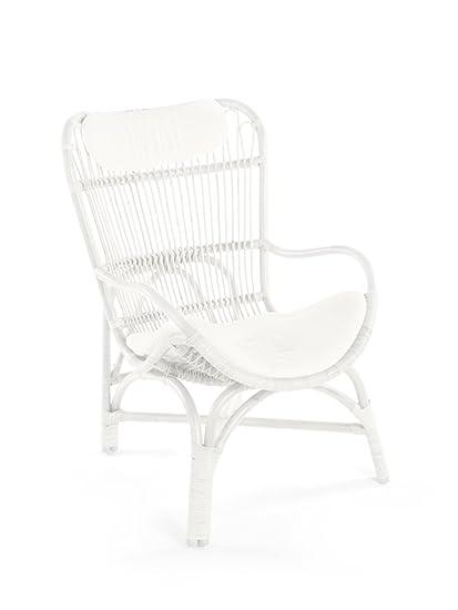 Super Amazon Com Kouboo Rattan Loop Lounge Chair With Seat And Customarchery Wood Chair Design Ideas Customarcherynet