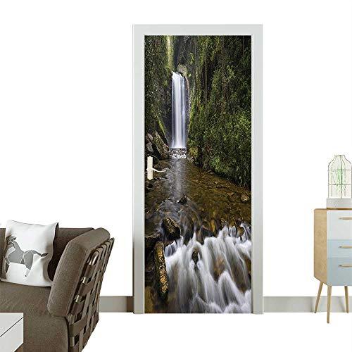 Door Sticker Wall Decals ecti Waterfalls in The