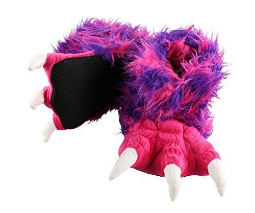 Pink Monster Paw Animal Paw Slippers for Kids and Adults by LazyOne | Fun Fuzzy Costume Footwear (X-Large)]()