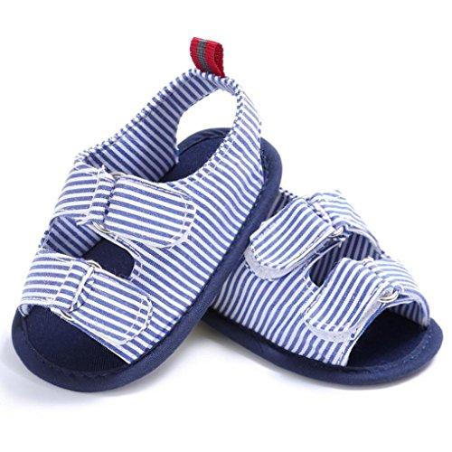 Hunpta Baby Kleinkind Kinder Mädchen Jungen weichen Sohle Krippe Neugeborenen Sandalen Schuhe Blau