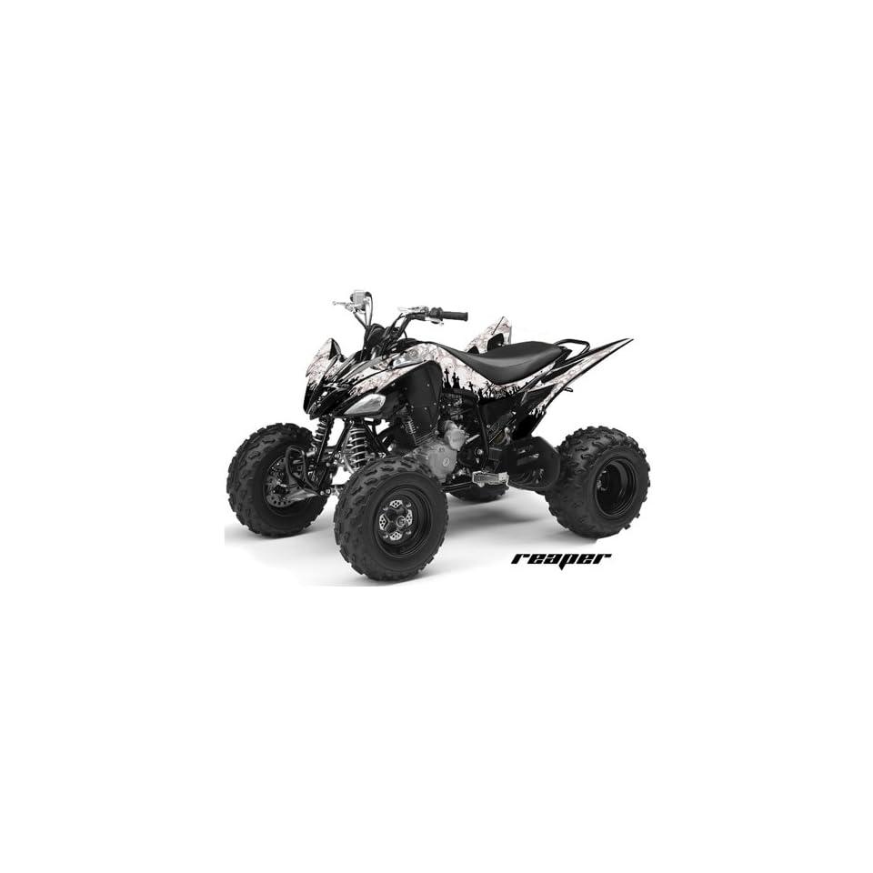 AMR Racing Yamaha Raptor 250 ATV Quad Graphic Kit   Reaper White