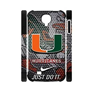 NCAA Miami Hurricanes Team Logo Samsung Galaxy S4 I9500 Dual-Protective Polymer Case Cover Attractive Customized Unique JUST DO IT Phone Case at Big-dream hjbrhga1544