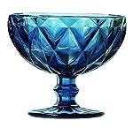 Jogo de 6 Taças para Sobremesa Martelasse em Vidro Dynasty, Dynasty
