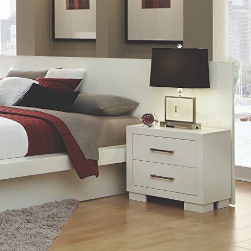 Coaster Home Furnishings 203090KW Contemporary Nightstand, White by Coaster Home Furnishings