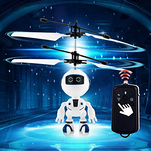 PALA PERRA Flying Toys | Mini Infrared Flying Robot for Indoor | Robot Remote Control Helicopter | Rechargeable RC Helicopter | Flying Toys for Kids | Infrared Induction Drone Helicopter Flying Robot