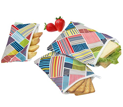 Wegreeco Reusable Snack Bags, (Set of 3) - Blitzed