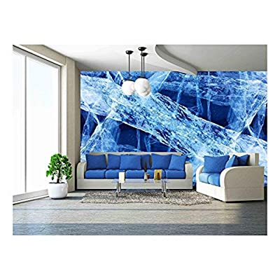 Texture of Ice of Baikal Lake Wall Decor, Created By a Professional Artist, Elegant Style