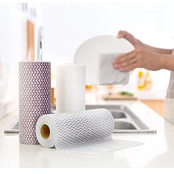 GUOQY-Kitchen trapos de limpieza reutilizables, toallas de limpieza desechables, toallitas de cocina