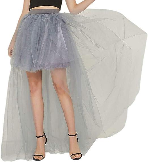 Chenpaif - Falda tutú plisada de cintura alta para mujer, tutú de ...