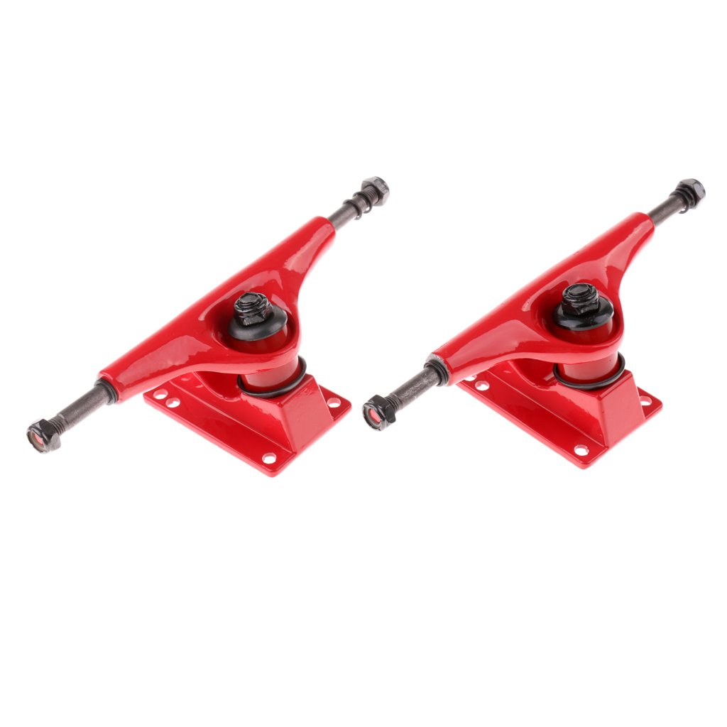 Skateboard Longboard Trucks Robusto e Resistente in Lega Alluminio Da 5 Pollici Sport Accessori Rosso