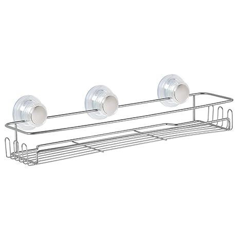 InterDesign Turn N Lock Suction Bathroom Shower Caddy Basket For Shampoo,  Conditioner,