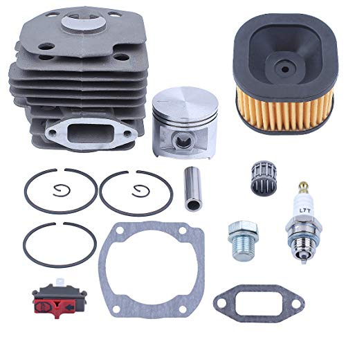 Haishine 50mm Cylinder Piston Rings Air Filter Bearing Gasket Rebuild Kit Fit Husqvarna 372XP Chainsaw Spare Parts #503 81 80-04 ()