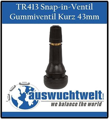 Tr413 Ventil Gummi Ventile Reifenventil Kurz Snap In 100 Stück Schlauchlos Ventile Pkw 42mm Auto