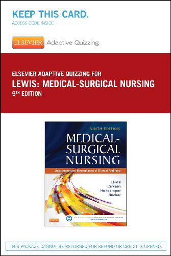 Elsevier Adaptive Quizzing for Lewis Medical-Surgical Nursing (36-Month) (Retail Access Card), 9e
