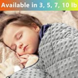 MAXTID Weighted Blanket for Toddler 3 lb 36x48 Cotton & Minky Premium Kids Heavy Blanket with Glass Beads