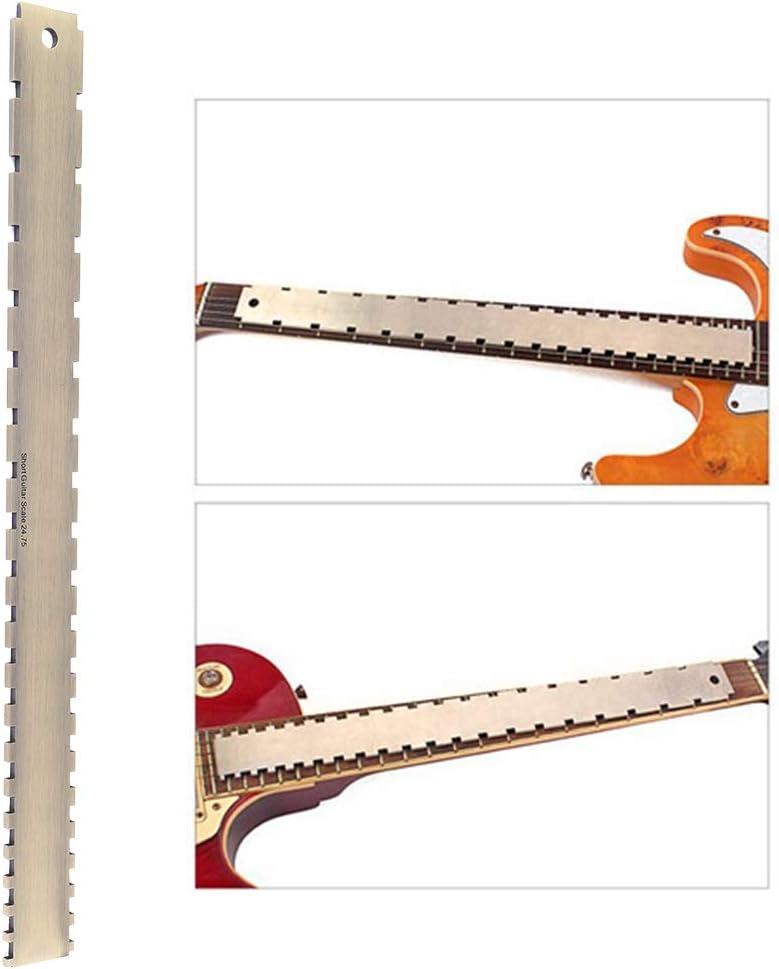 Liyeehao Nivelación Robusta del mástil de Guitarra, Borde Recto de la Guitarra, para Comprobar la rectitud del mástil de la Guitarra para Comprobar la Parte Plana del traste y los trastes