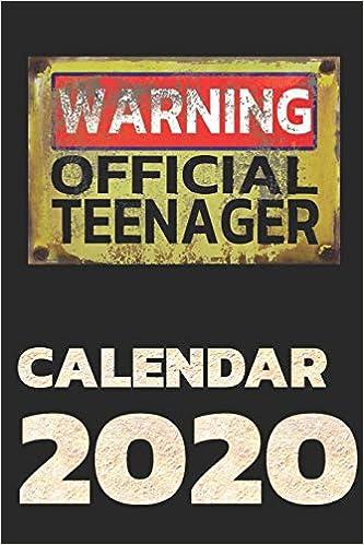 Warning Official Teenager Calendar 2020 Planner With Calendar Agenda Organizer Gerb Luca 9781690708629 Amazon Com Books