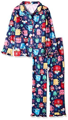 Gymboree Little Girls' 2 Piece Pajama Set, Mug Print, M