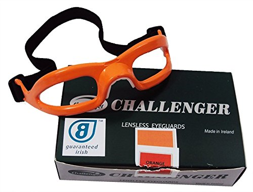 Challenger Lensless Coloured Eyeguards - Orange -