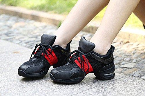 da uomo interno Scarpe Scarpe moderne donna da ballo in XW da mesh con Scarpe rinforzo estive ballo donna ballo ballo WX da Scarpe per da e 34 Scarpe da Red ballo squadrate 43 cggYZpH
