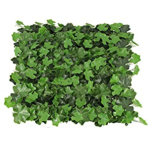 "Unique Forest Arts Artificial Hedges Panels,Artificial Boxwood Hedge Mat, Boxwood Greenery Ivy Privacy Fence Screening, Home Garden Outdoor Wall Decoration, 20""x20"" per pc (6 pcs Pack) 81"