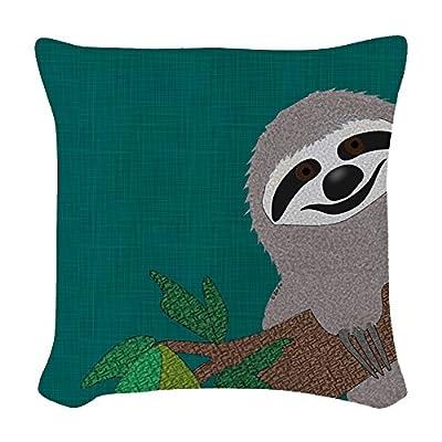 Cafepress - Sloth - Woven Throw Pillow, Decorative Accent Pillow - Cafepress