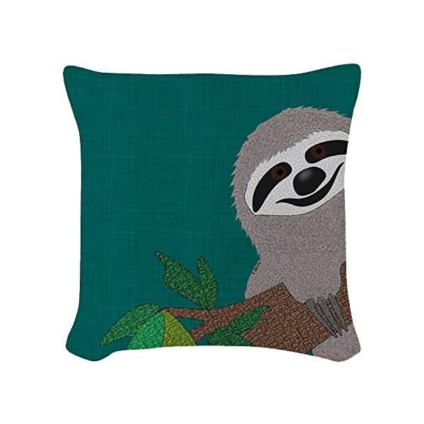 Cafepress - Sloth - Woven Throw Pillow, Decorative Accent Pillow -