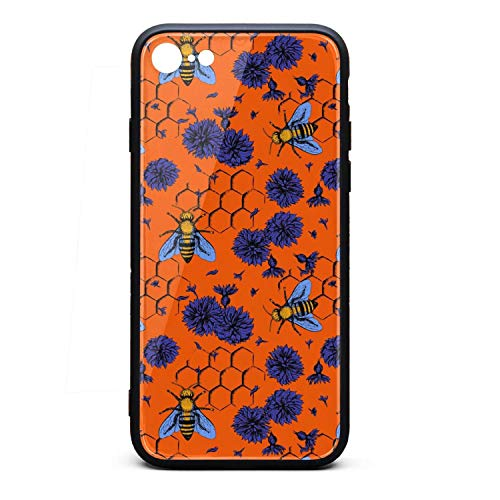 Bees and Blue Flowers i-Phone 6P/6SP Case Ultra Slim Fit Case Protective Case Protection Fashion for i-Phone 6/6S P -