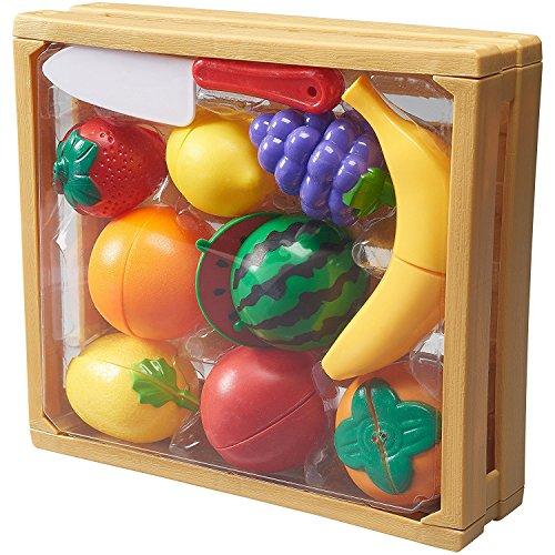 Halves Fruit (Pretend Kitchen Cutting Fruit Playset In Crate (20 Piece))