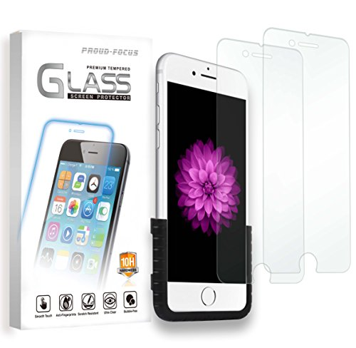 "Proud-Focus iPhone 6S iPhone 6 Screen Protector 4.7"" Tempered Glass 2-PACK, 0.2mm..."