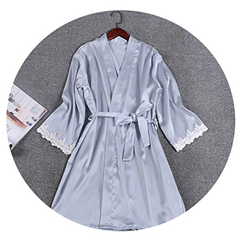 Used, colorful-space Women's Sexy Bathrobes Satin Silk lace for sale  Delivered anywhere in Canada