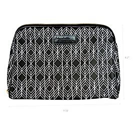 Milan Cosmetic Bag – Charlotte & Emerson – Makeup, Toiletry and Skincare Travel Case – Beauty Product Pouch with Pockets – Portable Zippered Organizer for Lipstick, Brush, Foundation, Palette