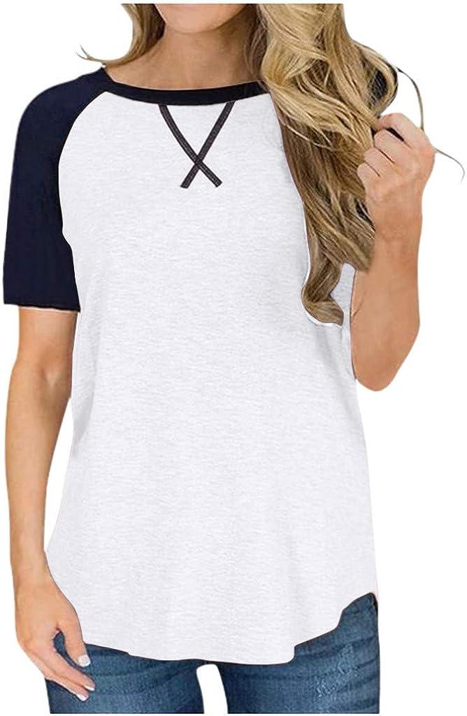 Y8-Bianco, L Weant Maglietta,Camicetta Donna Elegante Donna Maniche Corte Tumblr Magliette Donna Manica Corte t Shirt Donna Casual Sportivi Vintage Vestiti Estivi da Donna T Shirt Divertenti